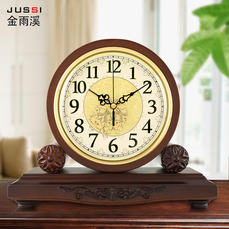 Континентальный дерево сиденье колокол гостиная творческий часы большой размер ретро часы немой тайвань колокол американский кварц колокол украшение