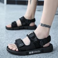 2019 новая коллекция лето модные тапки мужской Уличные пляжные сандалии дикие для отдыха нескользящие молодежный Носить сандалии