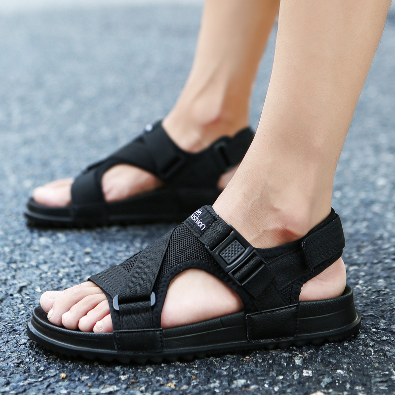 f54f276db 2019 new summer Korean trend slippers male non-slip beach sandals  personality sandals wear men s outdoor