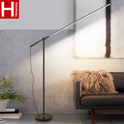 Hongliang LED floor lamp Simple modern INS Nordic living room bedroom study restaurant remote control piano lamp reading