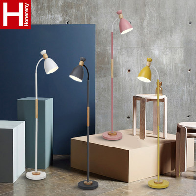 Hongli North Omarona Falling Lights Simple Wood Living Room Sofa Light Book Room Bedroom Vertical Federation Lamp