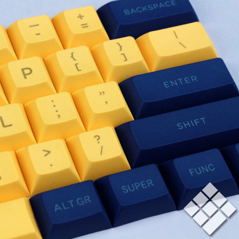 无铭诚品 DSA keycap pbt laser engraving blue white yellow