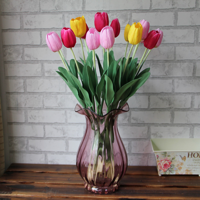 Simulation 10 Sticks Tulip Flowers Dried Flowers Indoor Fake Flowers Crafts  Living Room Table Decoration Decoration Flower Arrangement