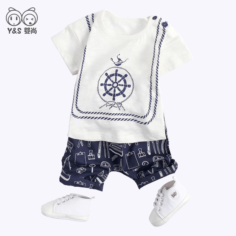e71d83a695236 Baby summer suit boy tide dress summer day 0 1-3 years old ...