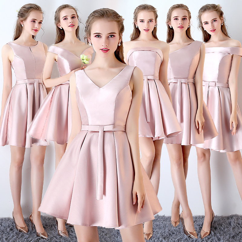 39aa916f42fa Bridesmaid dress 2019 new spring Korean bridesmaid dress sisters skirt short  section girlfriends student party dress