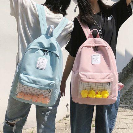 【抖音新款】女韩版校园百搭双肩包