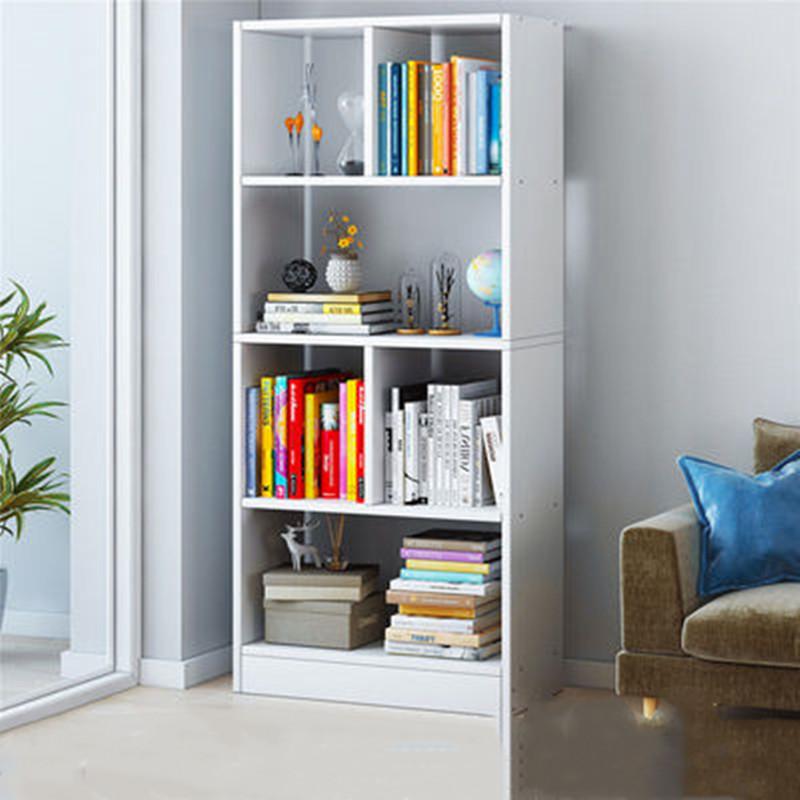 书架简约落地简易经济型客厅置物架组合省空间学生①卧室收纳小书柜