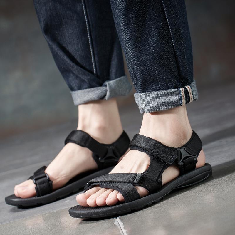 913a68983de6b1 Summer new soft sandals men s beach shoes Vietnam Rome leisure youth  students summer velcro sandals