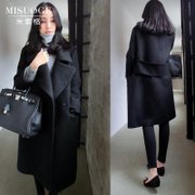 Mùa thu và mùa đông mới của Hàn Quốc phiên bản của kích thước lớn 2017 áo len trong phần dài lỏng len dày len coat coat phụ nữ