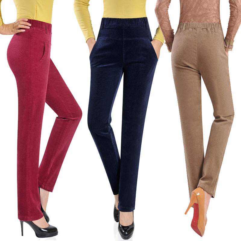 944d11defa99 Middle-aged women's autumn and winter trousers mother loaded 50 ...