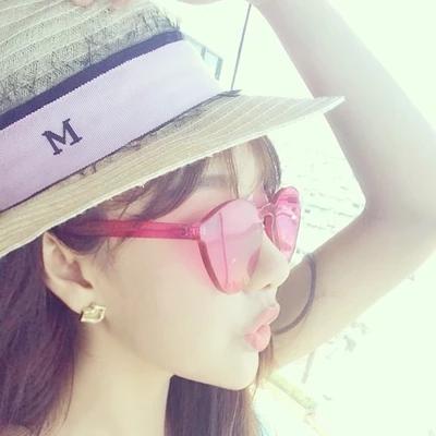 Солнцезащитные очки Корея объектив океан мульти-цвет одно без рамки прозрачный цвет Европа и Соединенные Штаты мужчины и женщины мода солнцезащитные очки солнцезащитные очки