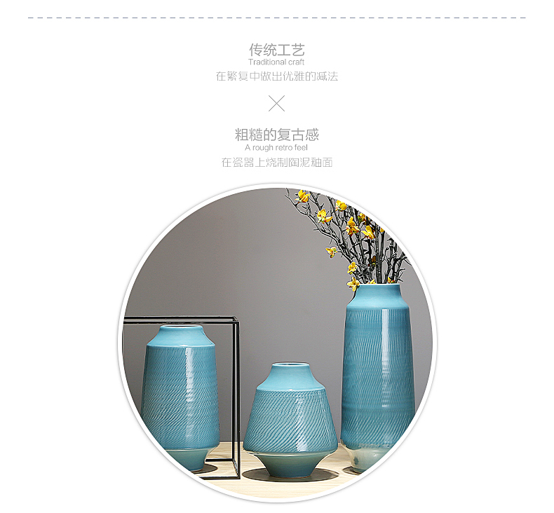 Contracted household act the role ofing is tasted Chinese flower arranging ceramic vase furnishing articles example room TV cabinet table sitting room porch decoration