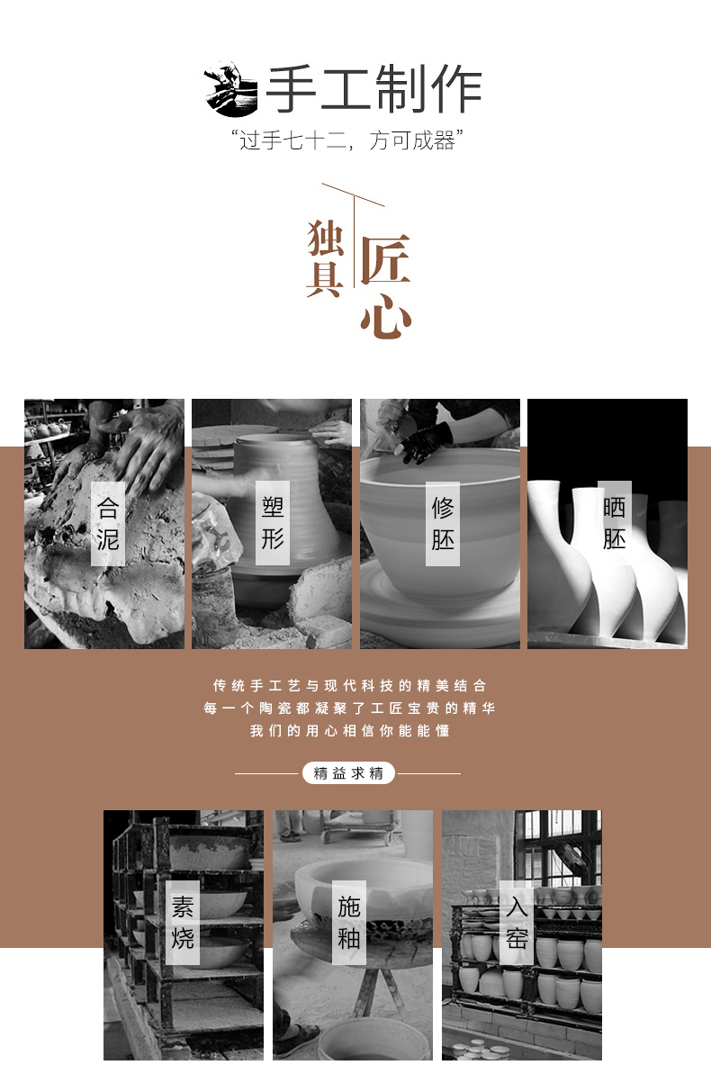 Jingdezhen ceramics vases, I and contracted home sitting room porch TV ark, adornment the dried flower implement furnishing articles