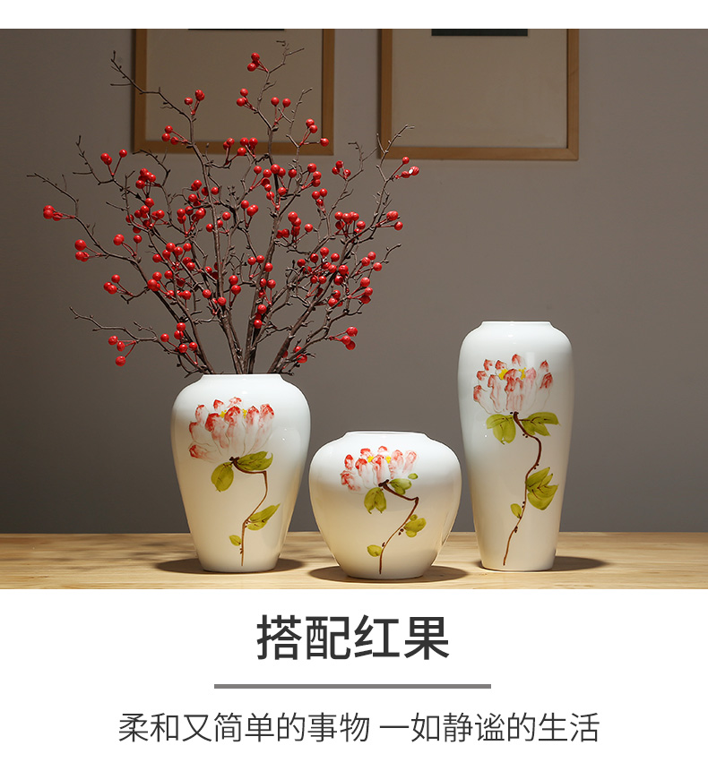 The New Chinese jingdezhen ceramic vases, modern home decoration model between desktop flower arrangement of the head of a bed decoration of home stay facility