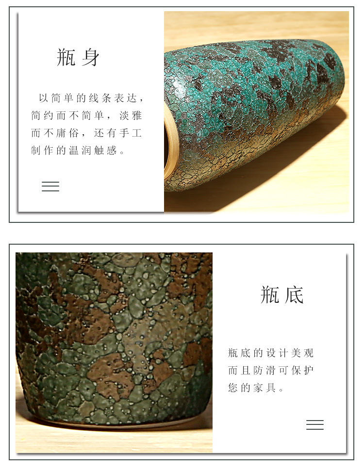 Jingdezhen ceramics vase of new Chinese style home furnishing articles dried flowers flower arrangement sitting room porch crafts