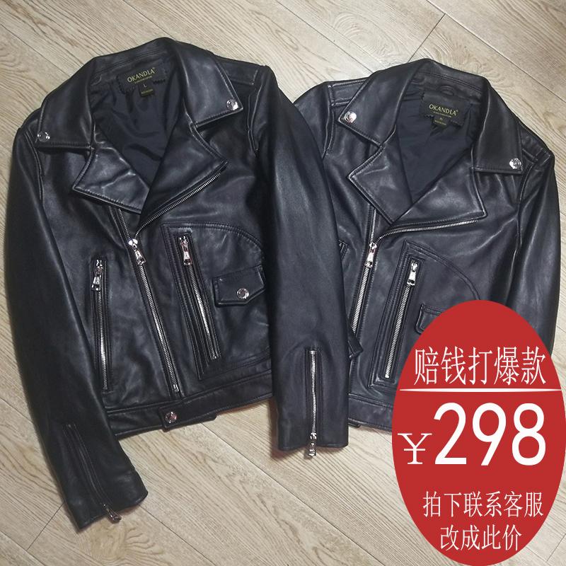 2018 новая весна модель чистая овечья дерма женская одежда тонкий краткое модель куртка отворот женский большой размер XSM234XL
