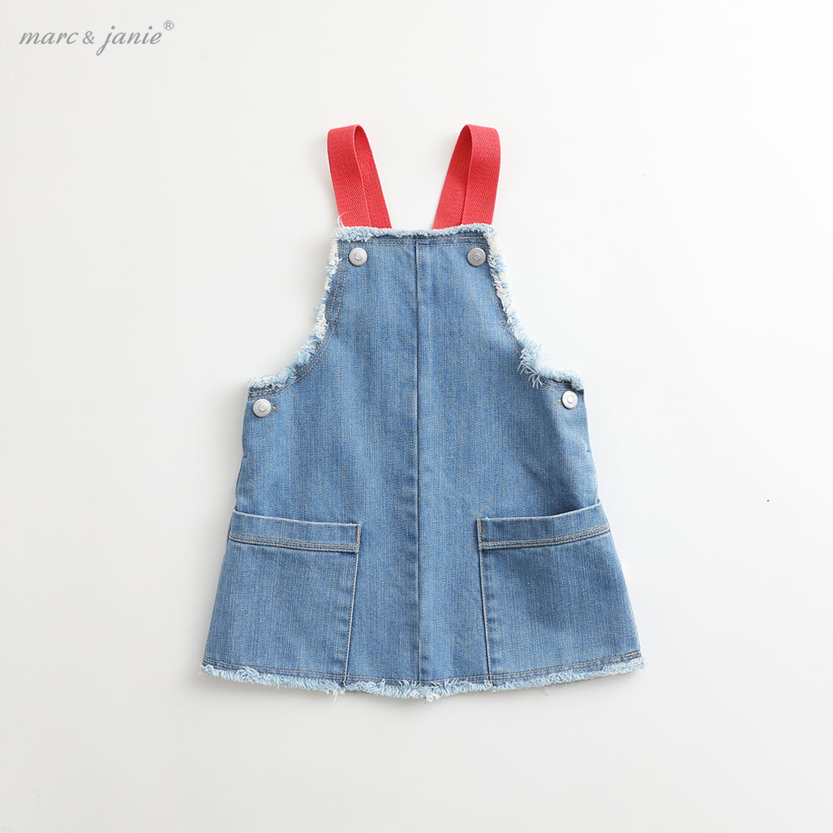 Mark Jenny girls cowboy belt skirt children's skirt spring 2020 new baby dress 83508