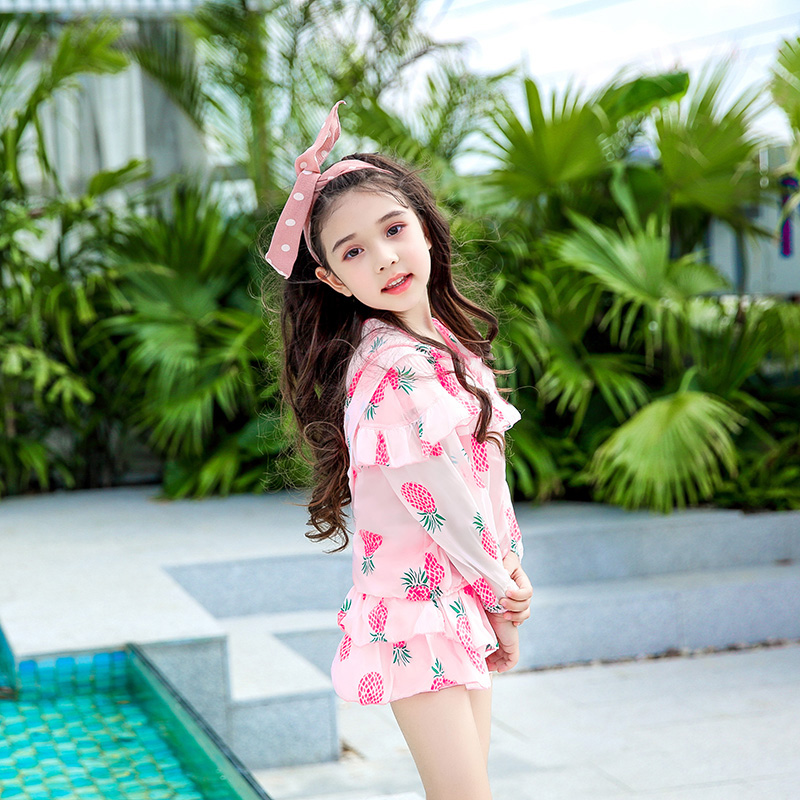 8e9e77d04d666 Children's Swimsuit Female Split Skirt Large, Medium, Small, Child ...