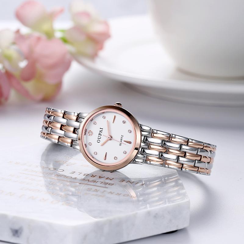手表女士名牌奢华迷你小金表