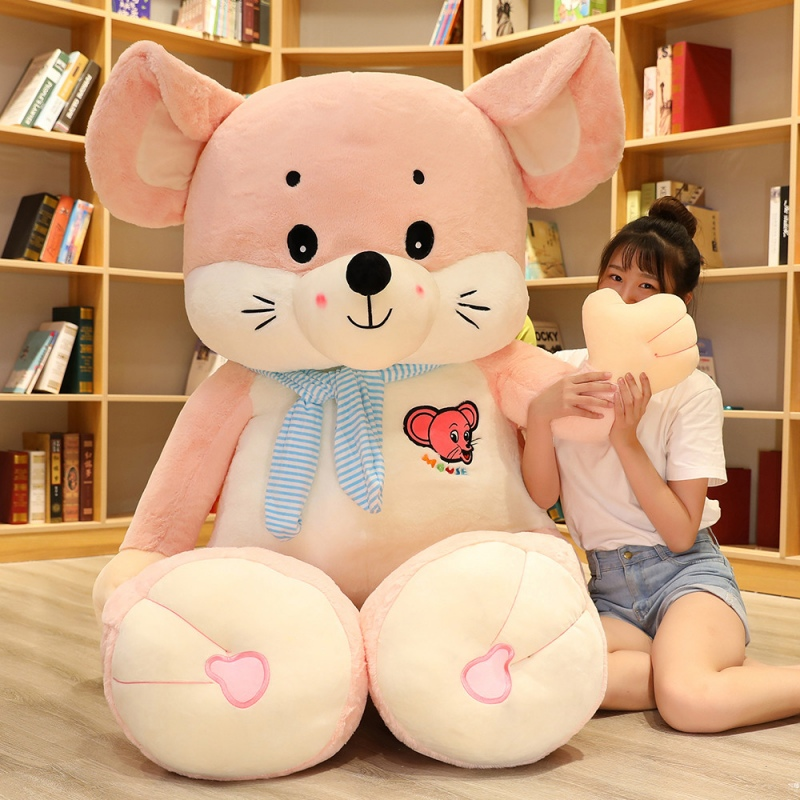 Plush toy mouse doll cute oversized doll girl doll bed sleep pillow mouse year mascot