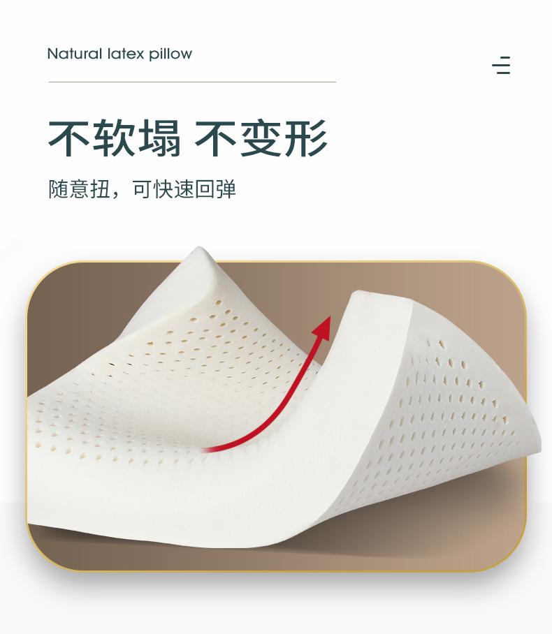 福满园 乳胶枕 93%泰国天然乳胶含量 图26