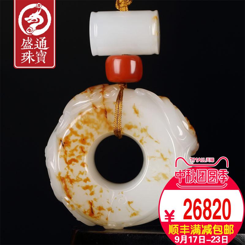 Shengtong Jewelry и Tianyu Hand Play Piece Seeds с Pi Long Yuzun Handle Pendant Jujube красный Подвеска из натуральной кожи мужской