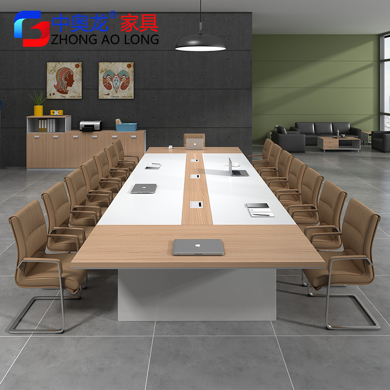 Conference Table Long Table Simple Modern Negotiation Reception Table And  Chairs Wooden Office Furniture Strip Office ...