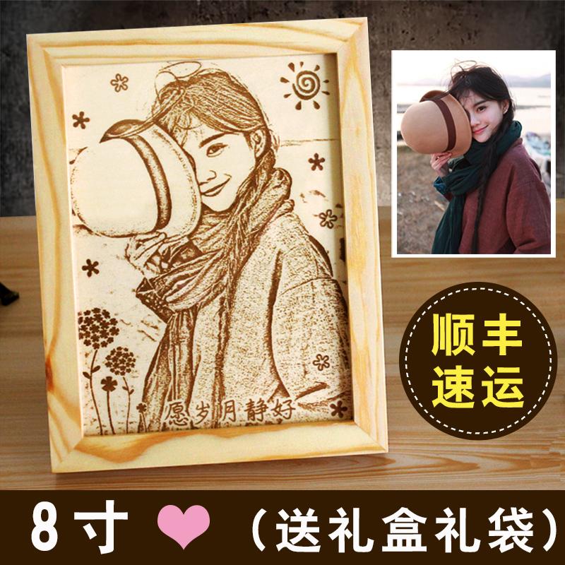 (SF Express)【8 дюймов】гравюра на дереве( совершенный )【 в подарок Подарочная коробка】