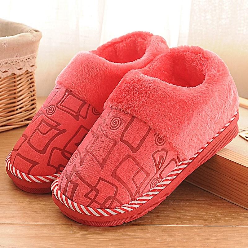 带儿童带绒孕产妇后跟老人包根加绒冬天防滑底老年人男人棉拖鞋女