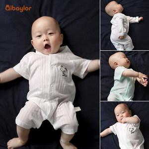 婴儿连体衣服春装女宝宝纯棉长袖哈衣男新生儿1岁春秋睡衣季3个月