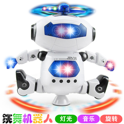 Electric dancing robot children's revolving will sing little boy 1-2-3-4 year old girl baby gift toy