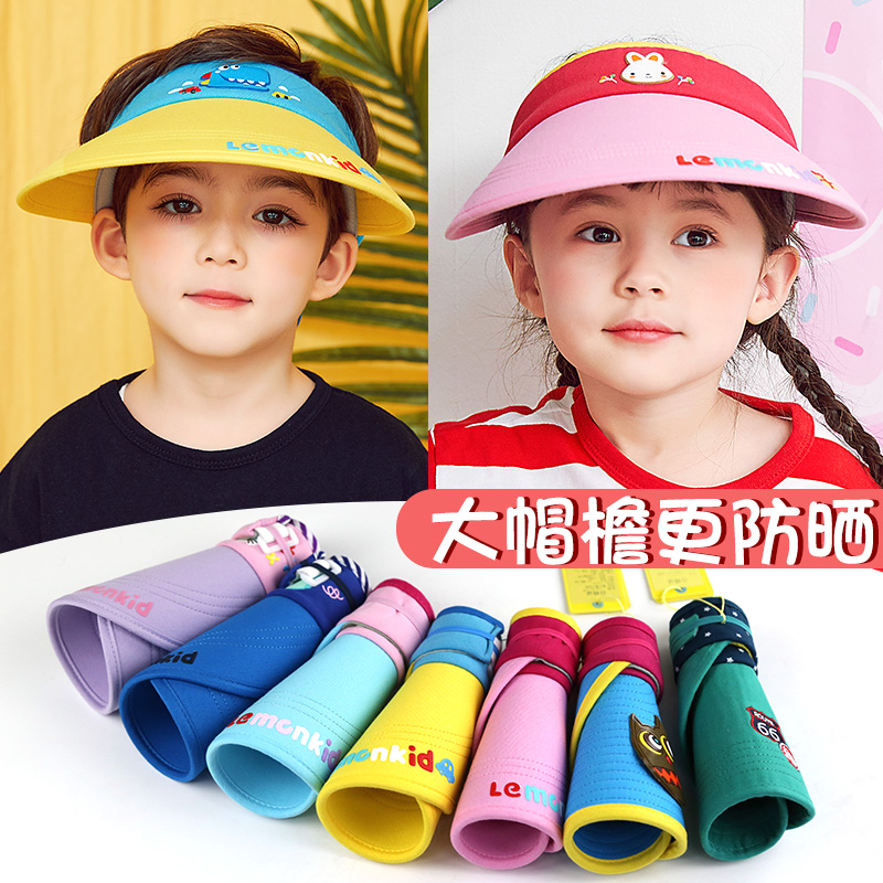 USD 29.30  Spring and summer children s hats large brim sunscreen 2 ... f2fb7f88cb1
