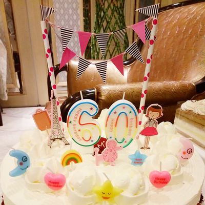 Childrens Birthday Party Digital Candle Cake Accessories Baby Creative