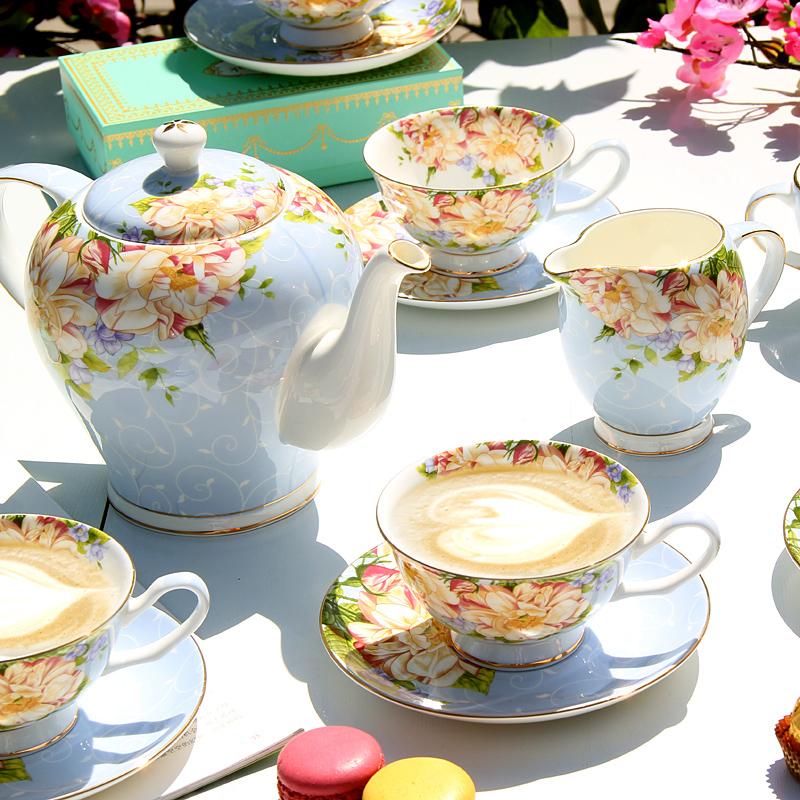 Кофе установите днем чай чайный сервиз континентальный чайный сервиз кофе инструмент костяной фарфор британская блюдце домой чайник выйти замуж