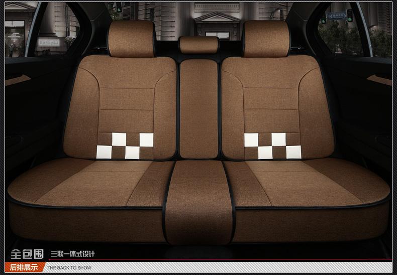 新款汽车座套全包座椅套亚麻坐套专车专用坐垫套四季通用布艺坐垫图片