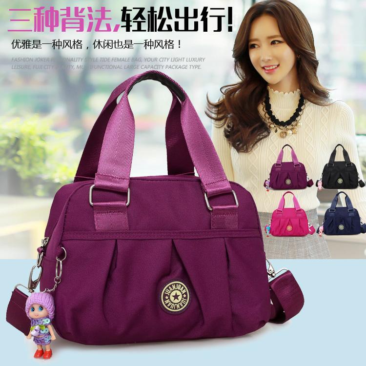 韩版女包手提包新款潮尼龙牛津布包休闲单肩斜跨女士小包包斜挎包