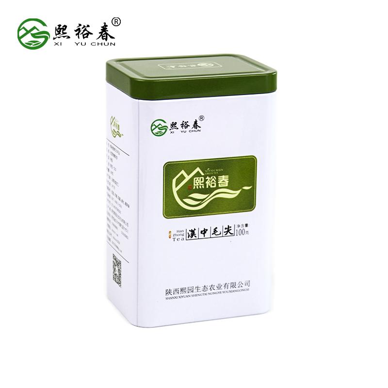 【熙裕春】汉中绿茶100g罐装