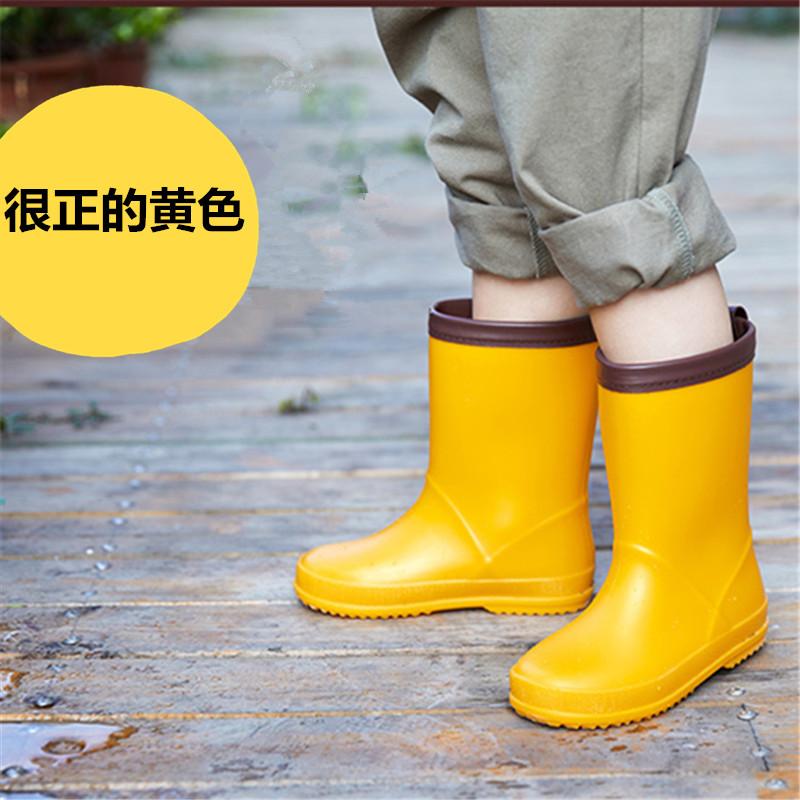 Экспорт в Японию детские Дождь сапоги супер свет стиль детские Дождь загружает экологически чистый материал нескользящие Водные ботинки мужские и женские Детские дождевые сапоги