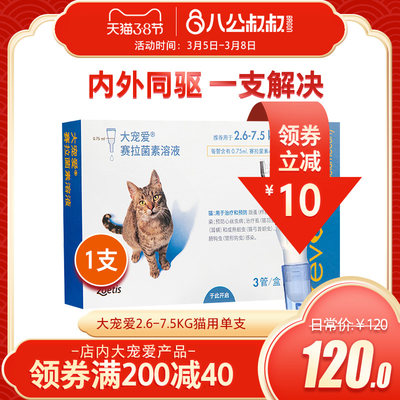In vitro insect repellent for cats and cats with a single kit of anti-flea and ear mites for cats