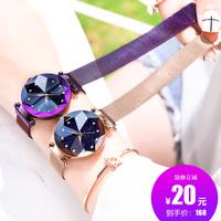 2018 новая коллекция Сеть Dior Star красный наручные часы женский популярный модные водонепроницаемый вибрато фасон унисекс корейская версия Студентка