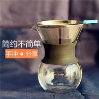 Рука порыв кофе горшок устройство отрицать нержавеющей стали фильтр стекло поделиться горшок домой портативный падения утечка стиль фильтрация чашка