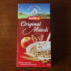Familia Swiss Original Muesli Traditional  Recipe<002191>