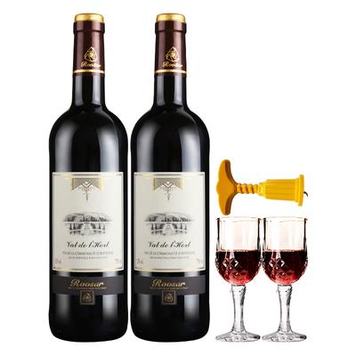 【法国原瓶进口】红葡萄酒750ml*2瓶