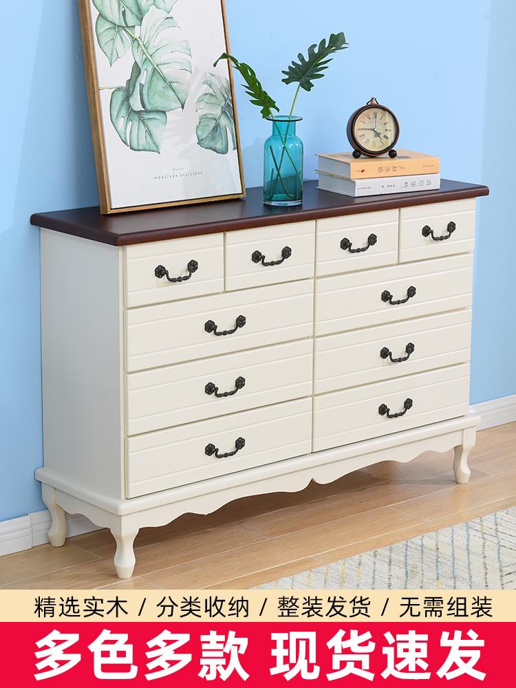 Европейский твердый деревянный комод DRAWERS минималистский современный спальня гостиная хранения шкаф ящик шкафы шкафчики комод Изображение 1