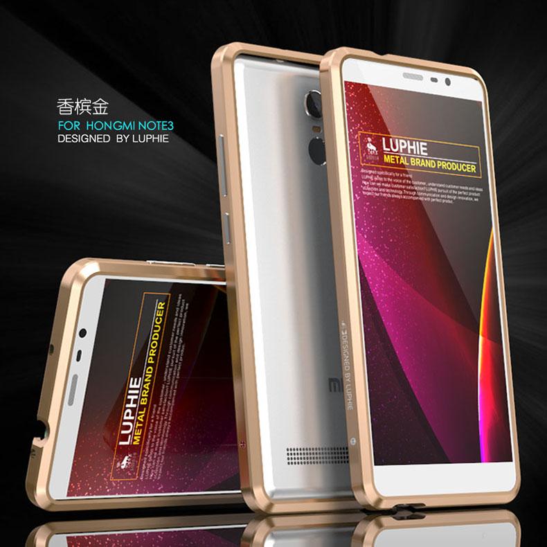 Luphie Blade Sword Slim Light Aluminum Bumper Metal Shell Case for Xiaomi Redmi Note 3