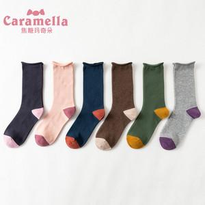 韩版学院风百搭潮堆堆袜6双礼盒装