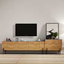 American retro TV cabinet modern minimalist wood industry wind to do the old bedroom