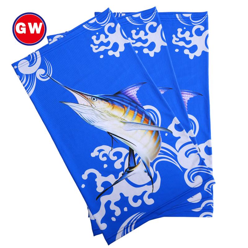 Гуан вэй рыбалка шарф шелк льда магия полотенце шарф на открытом воздухе маска для лица запястье тряпка для мытья посуды нагрудник быстросохнущие легко крышка печать