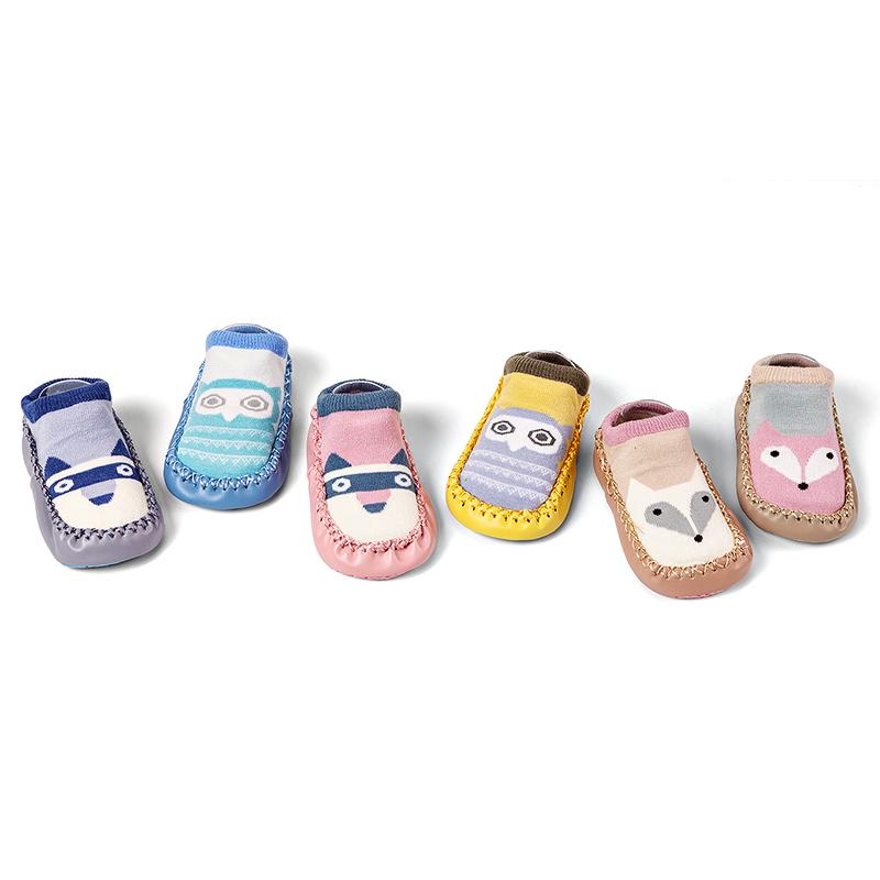 春秋宝宝袜子学步袜儿童地板袜0-6-12月婴儿袜1-3岁早教袜套鞋袜