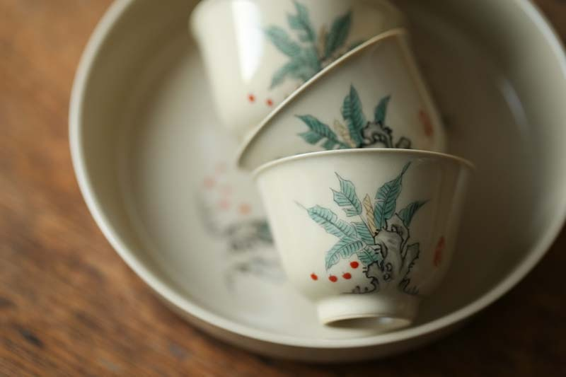 Plant ash cup bowl of jingdezhen ceramic suit small manual single hand sample tea cup cup master cup tureen
